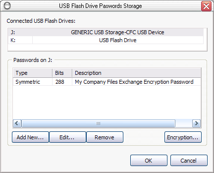 USB Flash Pendrive Password Storage Tool