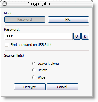 AEP can encrypt multiple files and folders in a batch mode